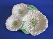 Large Carlton Ware Yellow 'Poppy' Trefoil Dish c1948